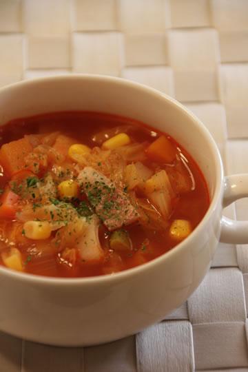 朝はスープ